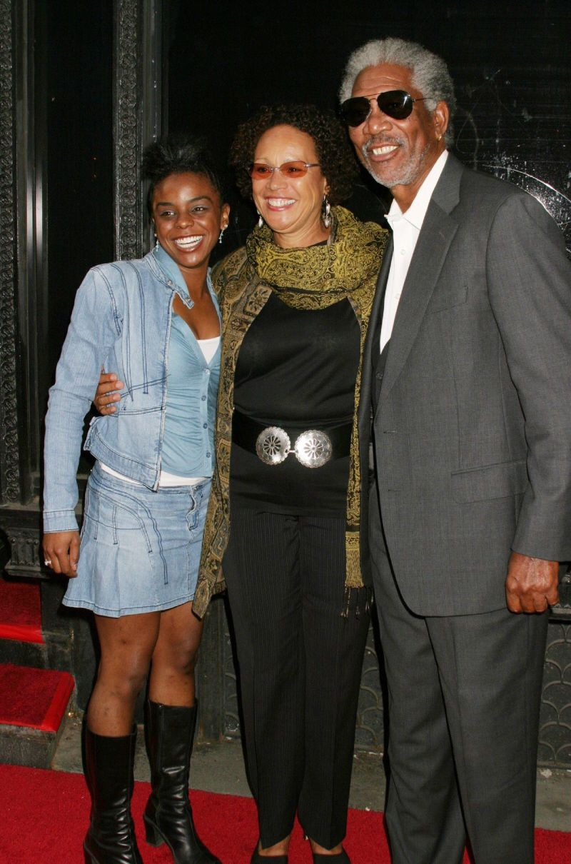 From left to right: E'Dena Hines (Morgan's step-granddaughter),