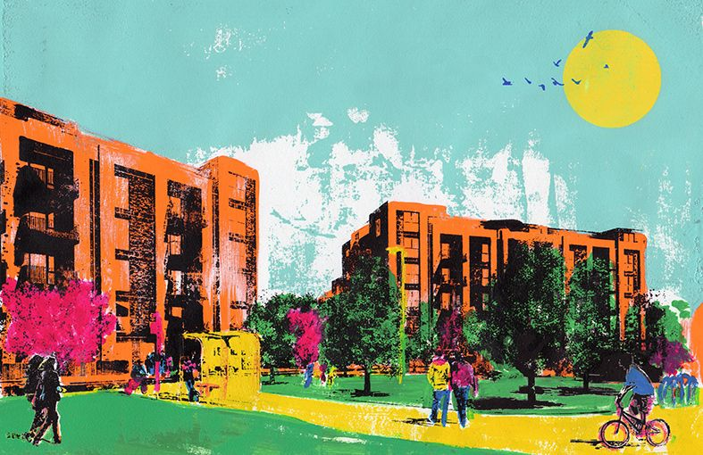 New Building Project Branding, bright, vibrant and colourful to represent the Indian and Bangladeshi community.