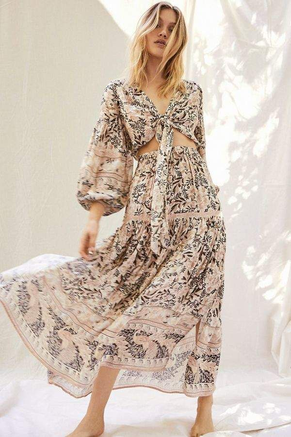 fb842d06e88 Oasis Spell And The Gypsy Collective Tie Top and Skirt Set