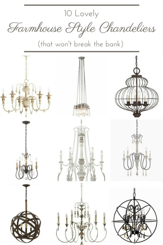 10 Lovely Farmhouse Style Chandeliers That Won T Break The Bank Farmhouse Style Chandelier Farmhouse Chandelier