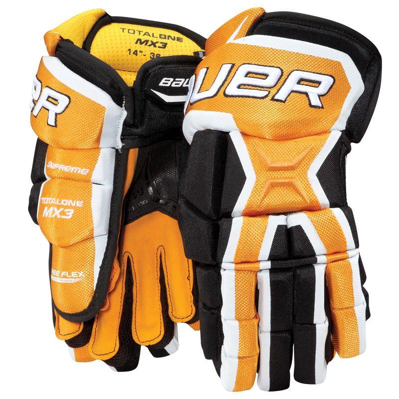 Bauer Supreme Totalone Mx3 Hockey Gloves Senior 15 Inch All Black Gloves Hockey Gloves Hockey Equipment