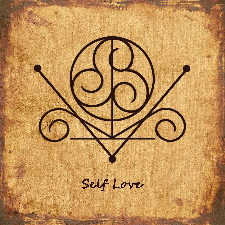 SELF LOVE Sigil | Symbols | Pinterest | Tattoo, Symbols and Runes