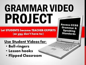Grammar Video Project: Students Teach Their Peers | Literacy