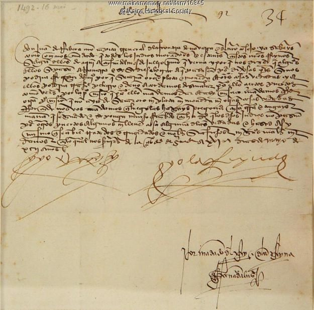Christopher Columbus Letter To King Ferdinand.Pin On Brown Research Library