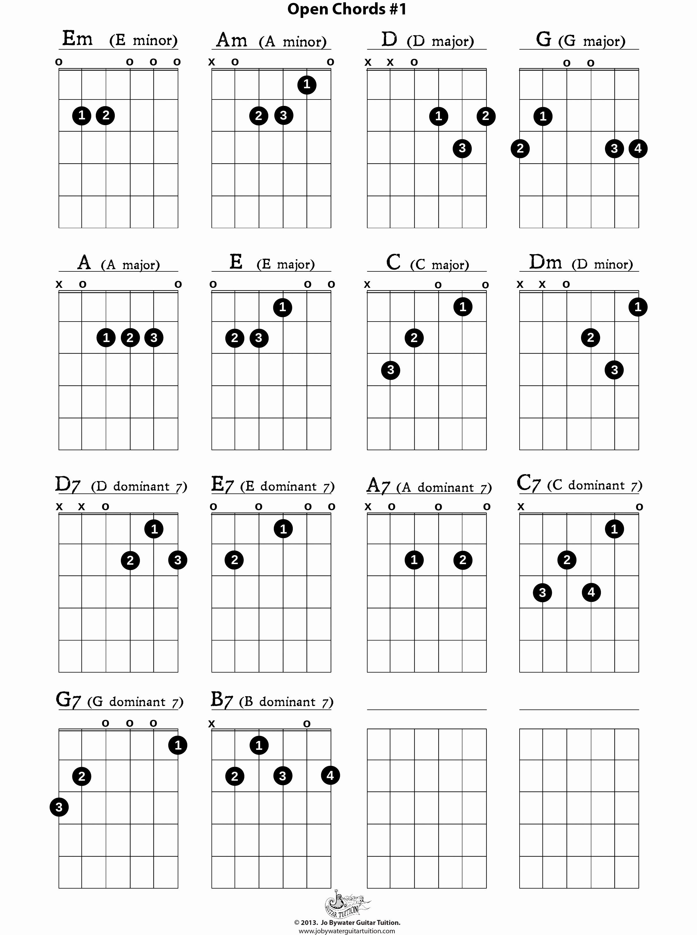 how to read guitar chords left handed