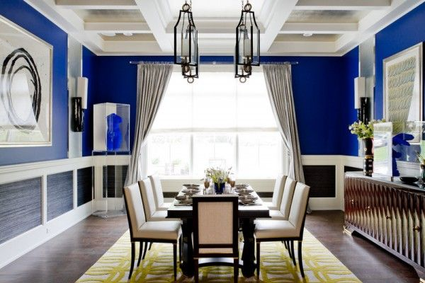 Best Cobalt Blue Interior Design Bold Cobalt Blue Dining Room 400 x 300