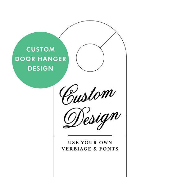 Wedding Door Hangers  Custom Wedding Door Hanger  Do Not Disturb