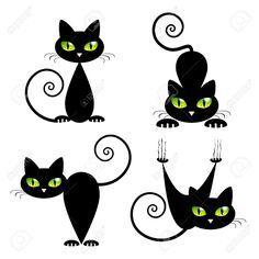 resultado de imagen para dibujos de gatos faciles hazlo t mismo artesan as pinterest. Black Bedroom Furniture Sets. Home Design Ideas