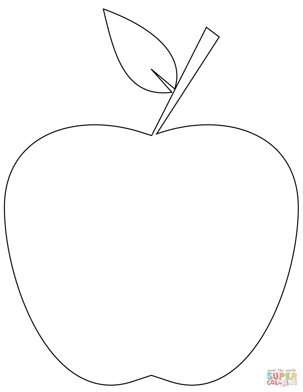 Resultado de imagen para manzana para colorear | MANUALIDADES ...