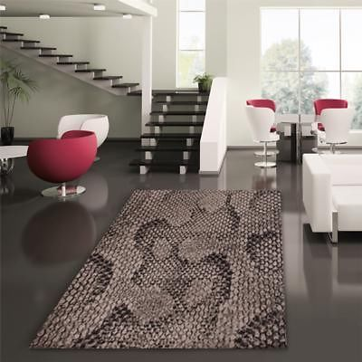 Snake Skin Print Rug Grey 230x160cm