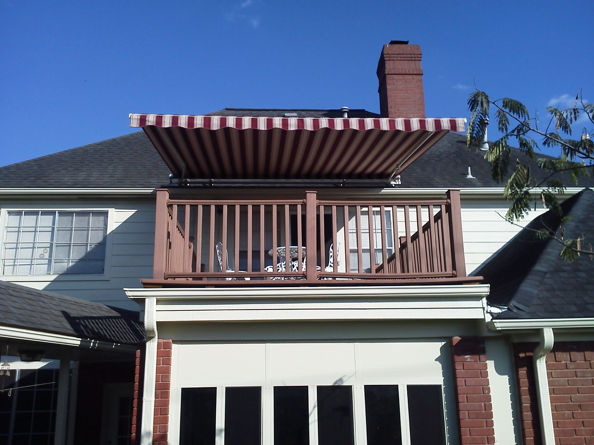 Motorized SunSetter Retractable Awning 14' XL model Woven ...