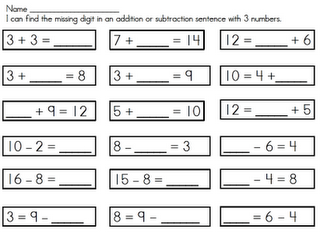 addition subtraction worksheet with missing parts addition subtraction math classroom. Black Bedroom Furniture Sets. Home Design Ideas