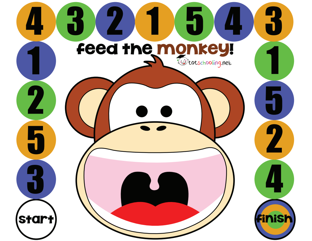 Free Feed The Monkey Board Game