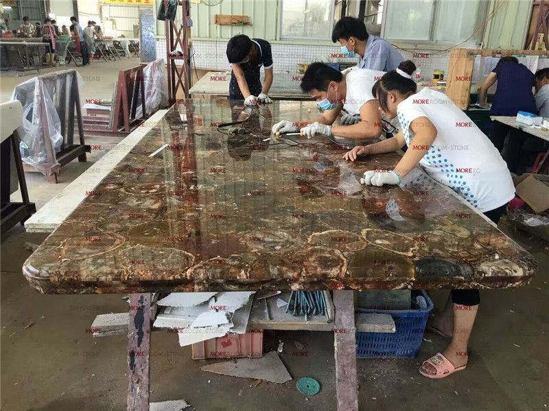 Gemstone Petrified Wood Fossil Wood Bar Top And Countertops