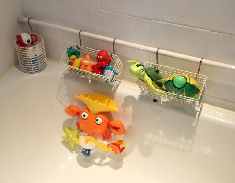 Ranger les jouets de Bain | Jouet de bain, Rangement jouets salle de bain et Rangement jouet bain
