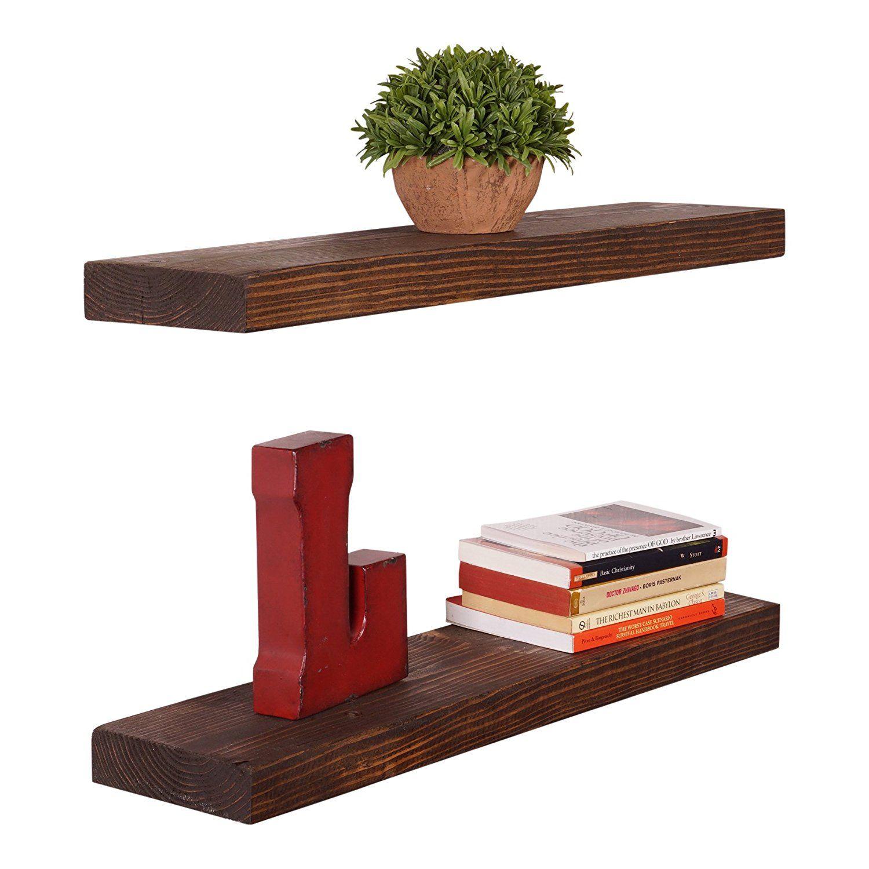 Amazon Com Dakoda Love Handmade Rustic Pine Wood 2 X 36 X 5 5 Inch Floating Sh Rustic Floating Shelves Ikea Floating Shelves Wood Floating Shelves
