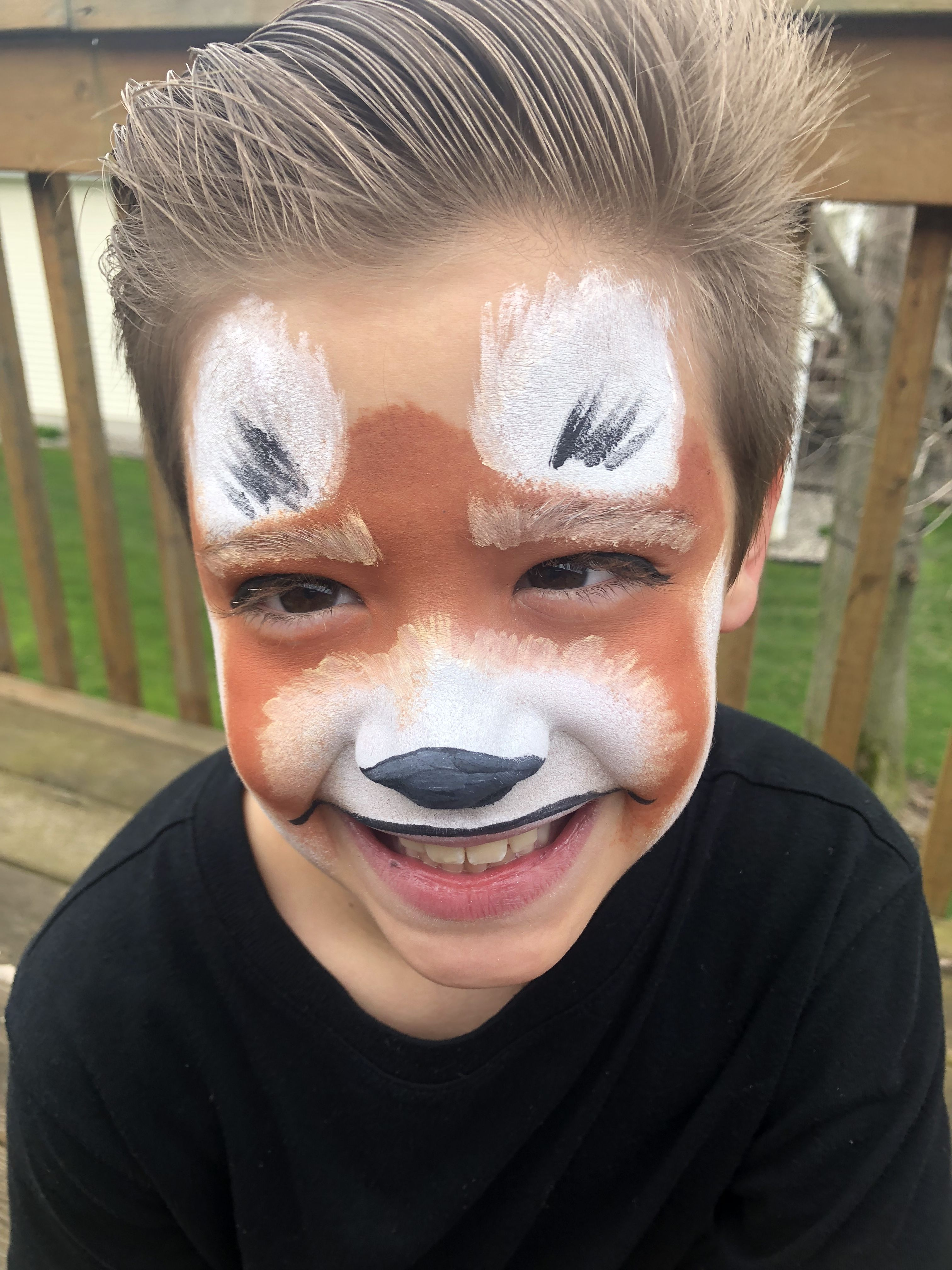 Red panda face paint for kids | Panda face painting ...