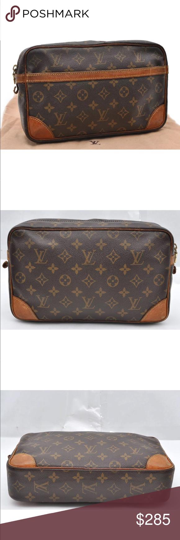 742a3b5d395d Auth Louis Vuitton Monogram Compiegne 28 Clutch Auth Louis Vuitton Monogram  Compiegne 28 Clutch Hand Bag