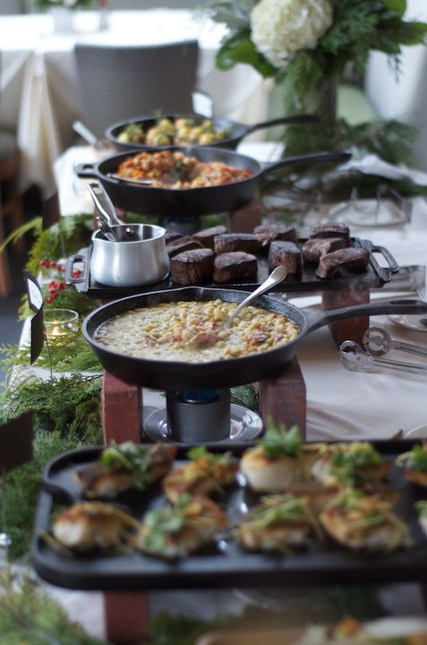 Food stations that we offer for private events in le Salon du Mistral