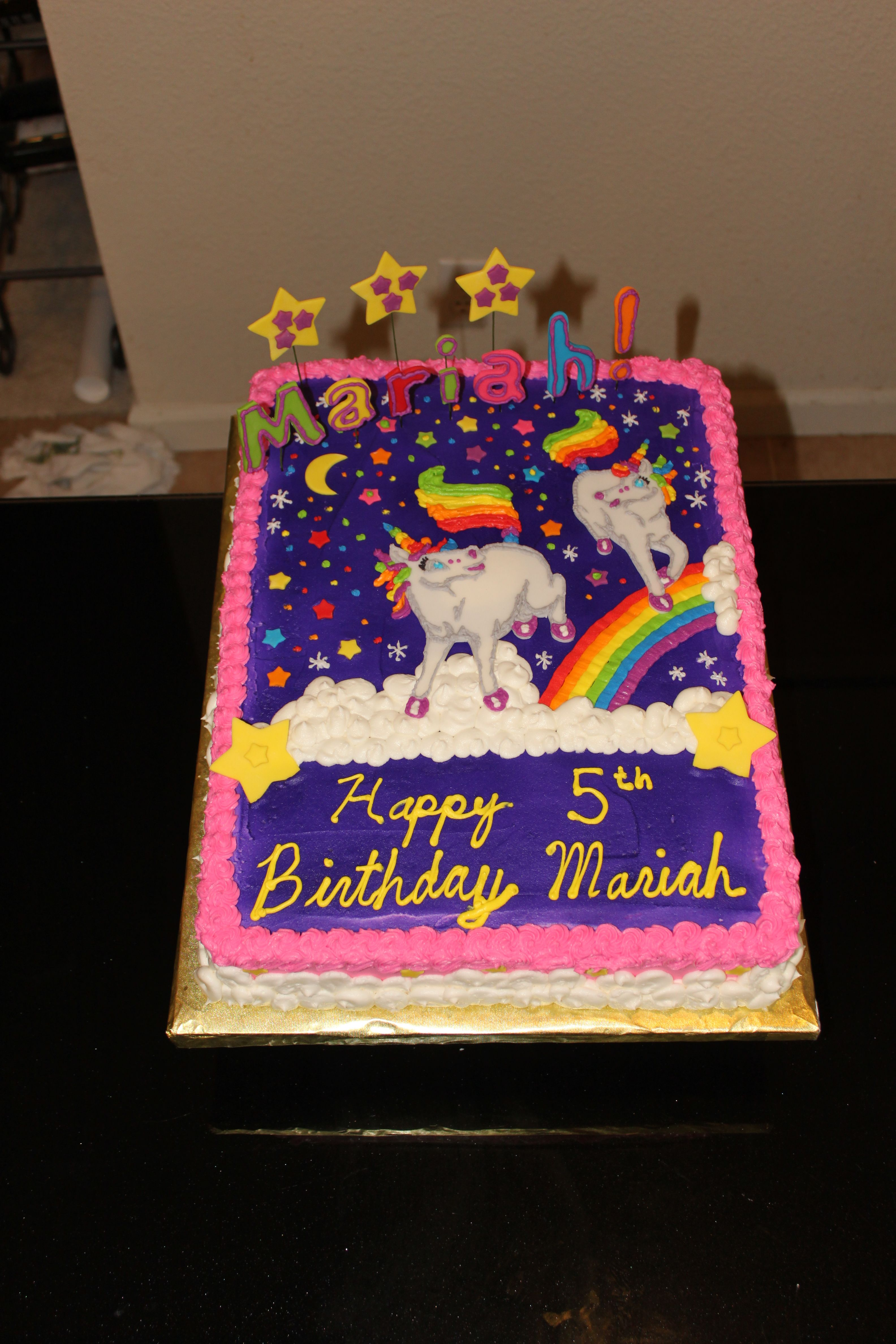 Admirable Lisa Frank Birthday Cake Unicorn Birthday Cake Lisa Frank Funny Birthday Cards Online Alyptdamsfinfo