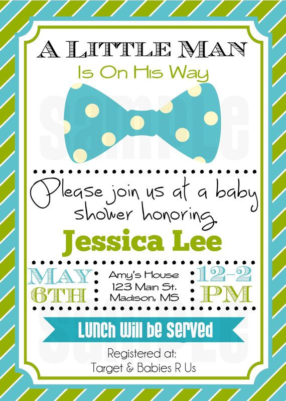 little man baby shower invitation - baby boy shower invitation, Baby shower invitations
