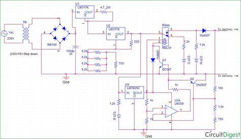 Float Charger Circuit Diagram For 12v Sla Battery Electronics