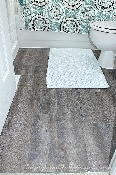 31 Diy Projects That Will Make Your House Look Amazing Cheap Bathroom Flooring Peel And Stick Floor Floor Makeover