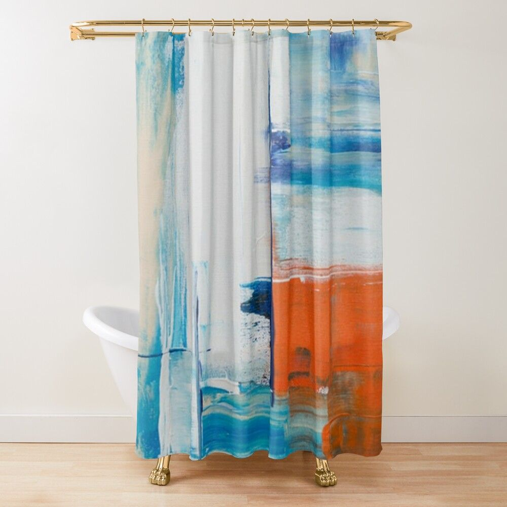Abstract Painting Artwork Shower Curtain By Easilybored In 2020 Abstract Painting Artwork Painting Abstract