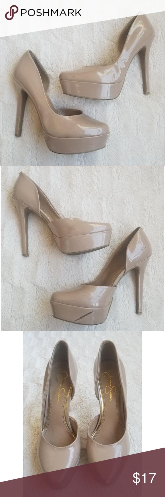 06669cbc439 Jessica Simpson JP Walea Nude Platform heels Jessica Simpson JP ...