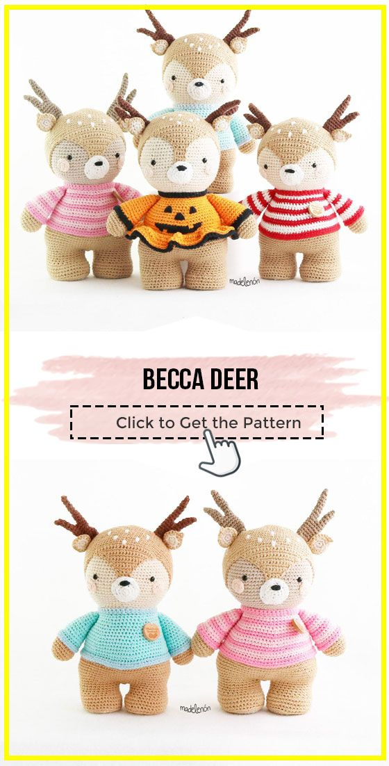 crochet Becca Deer easy pattern