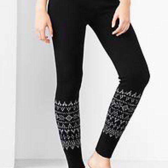 New Black Fair Isle Sweater Leggings | Fair isles, Thick leggings ...