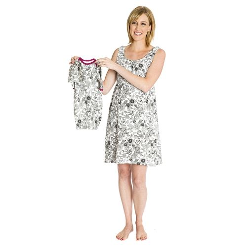 Ella maternity/nursing nightgown matching and baby romper set