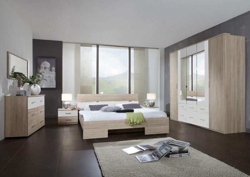 Schlafzimmerset 4-tlg »LIANA« Montana Eiche - alpinweiß Jetzt - günstige komplett schlafzimmer