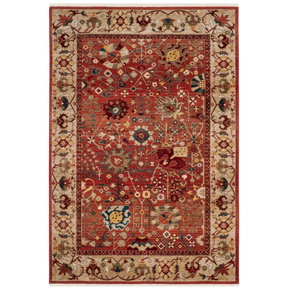 Safavieh Kashan Red Beige 9 Ft X 12 Ft Area Rug Ksn303l 9 Traditional Area Rugs Area Rugs Floral Area Rugs