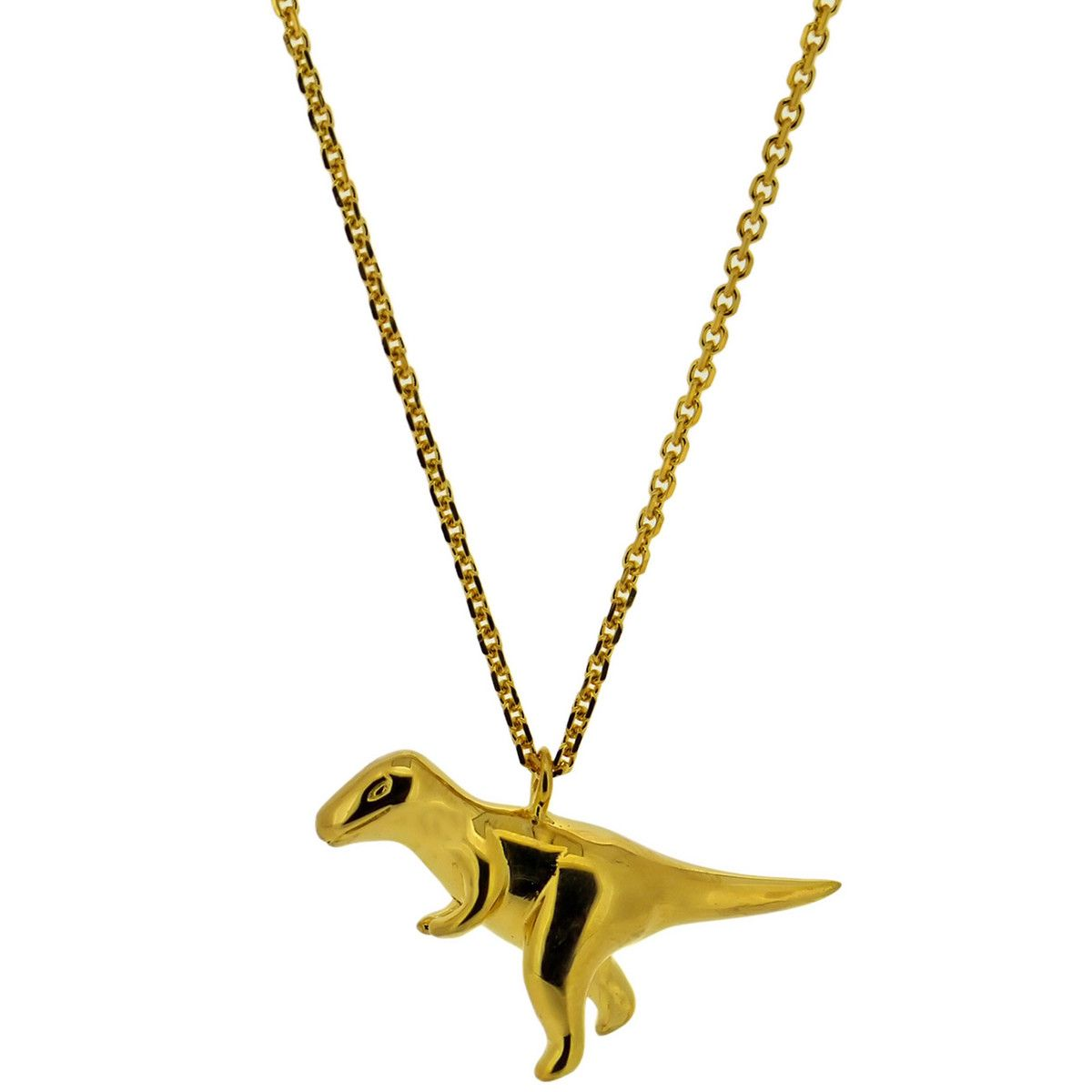 necklace dinosaur solid gold brachiosaurus white cm pendant