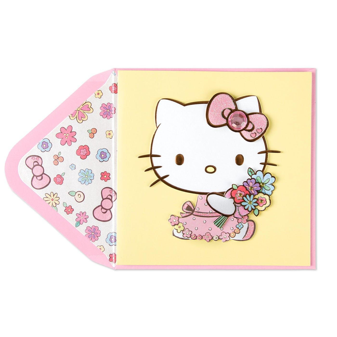 Hello Kitty With Flowers Mother S Day Card