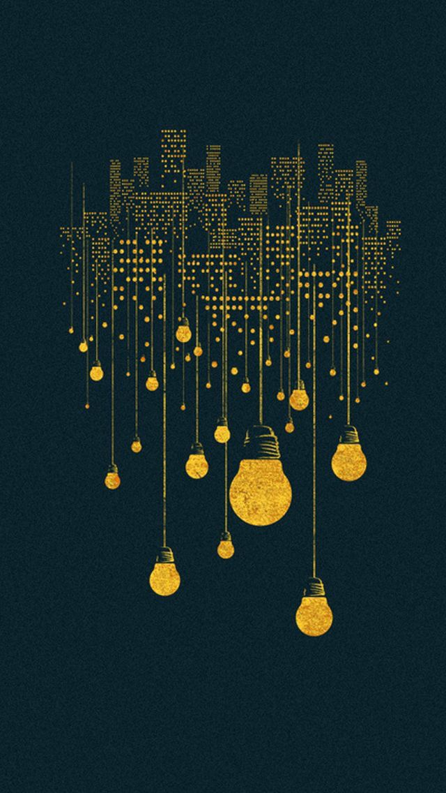 iPhone string lights wallpaper Wallpapers Pinterest