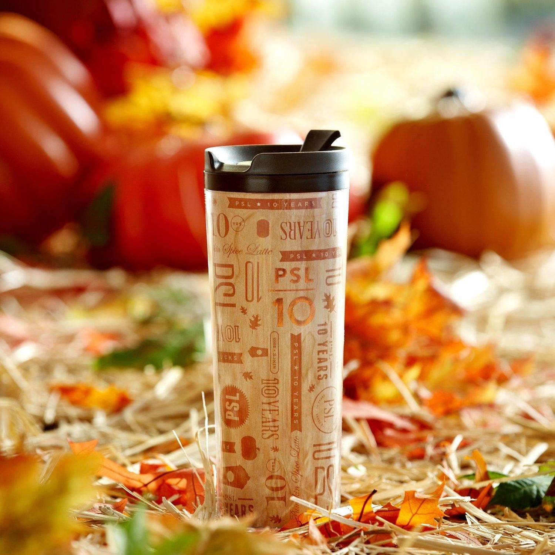 b455ddac888 Starbucks PSL Pumpkin Spice Latte Limited Edition 10th Anniversary Tumbler  16oz | eBay