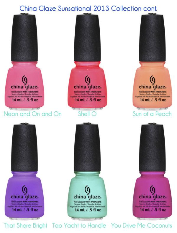 China Glaze Sunsational Collection for Summer 2013 ~ Jelly and Neon