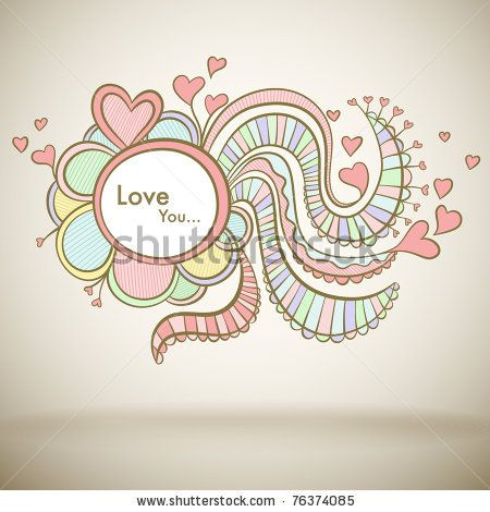 stock vector : Love greeting card for Mothers day or Valentine