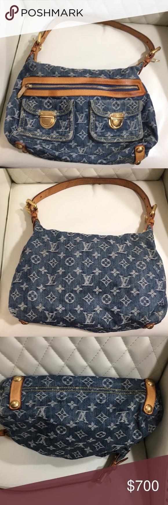 Spotted while shopping on Poshmark  BEST PRICE Louis Vuitton Monogram Baggy  Denim Bag!  poshmark  fashion  shopping  style  Louis Vuitton  Handbags 1c20fa4313d99