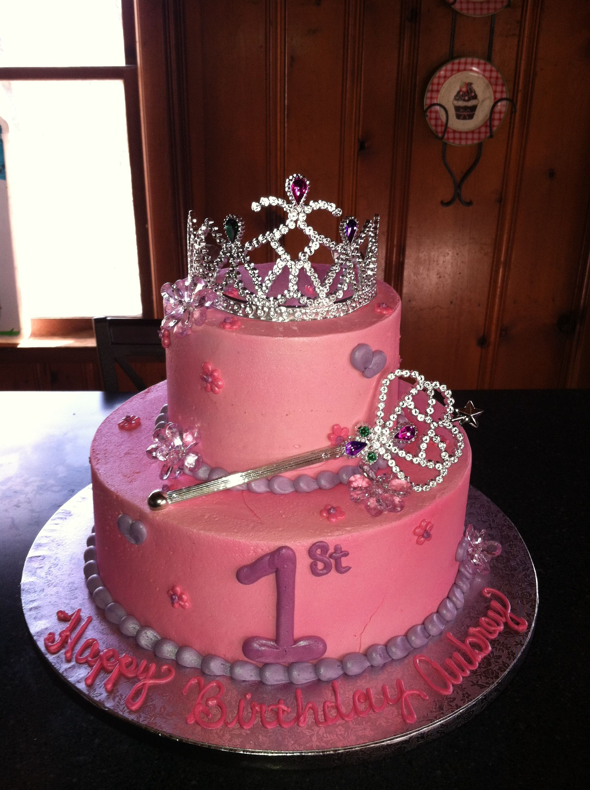 Superb Princess 1St Birthday Cake With Images Birthday Cake Pinterest Personalised Birthday Cards Veneteletsinfo