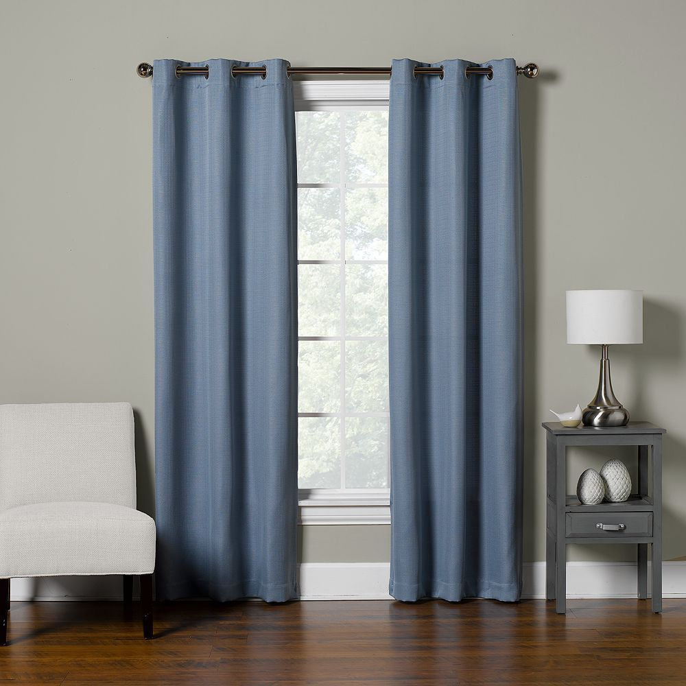 The Big Onea 2 Pack Decorative Solid Window Curtains Blue