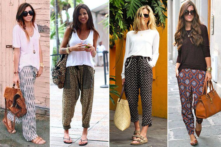 Boho Street Style Inspiration Casual Printed Pants Looks johnnywas