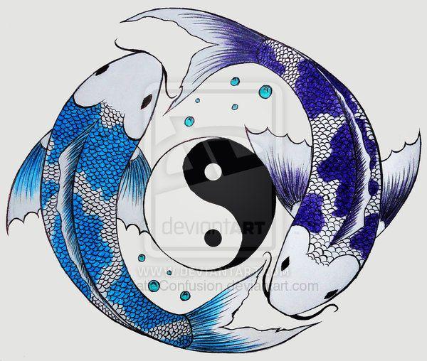 yin-yang koi fish by KatieConfusion.deviantart.com on @deviantART ...