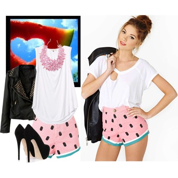 """""""Watermelon Heart"""" by paint0808 on Polyvore"""