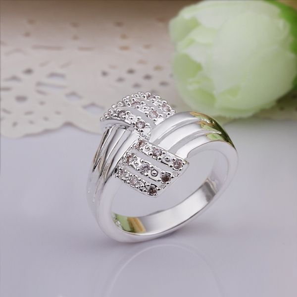 2017 verkauf Frauen Anillos Heißer Verkauf Großhandel Sterling Silber 925 Ring Modeschmuck Ring Fingerringe Hochzeit Bands R259