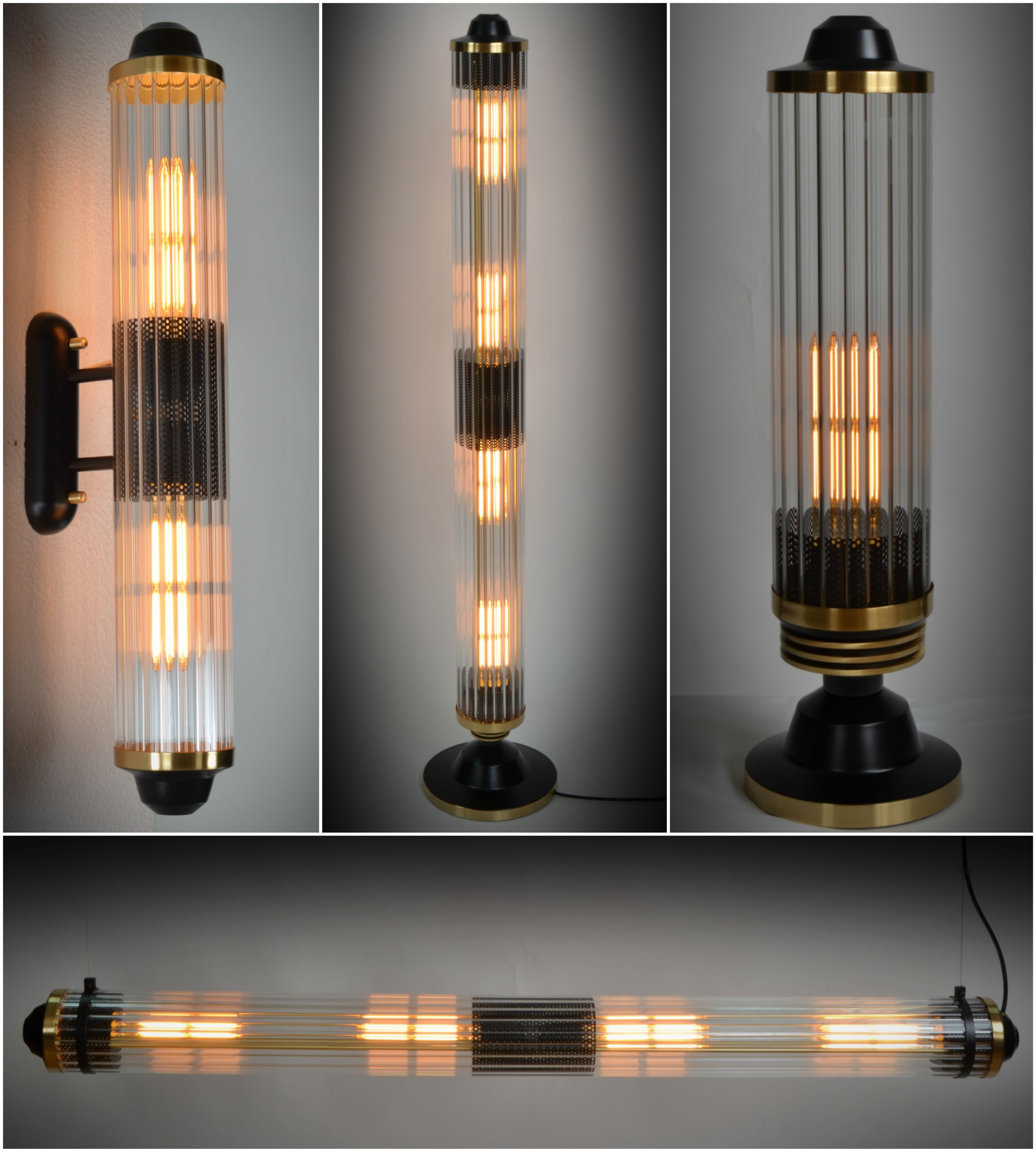New Tubo Lighting Collection Floor Wall Table Or Ceiling