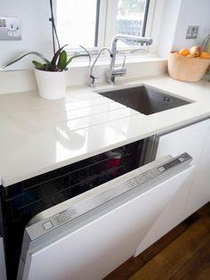 Weisse Granit Arbeitsplatte Und Weisse Fronten Cucina Pinterest