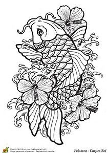 Image Result For Japanese Coloring Pages For Adults Design Japanese Koi Fish Tattoo Koi Tattoo Design Japanese Tattoo Art